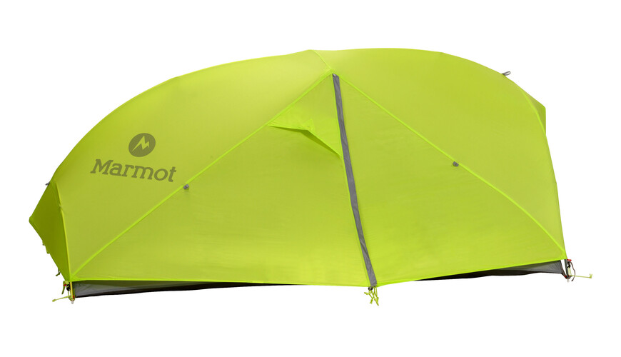 Marmot Force 2P Telt green lime/steel